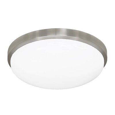 11 Inches Round Driverless AC LED Flush Mount Ceiling Fixture or ADA Sconce with Acrylic Shade 90CRI Brushed Nickel in 3000K
