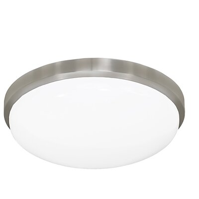 13 Inches Round Driverless AC LED Flush Mount Ceiling Fixture or ADA Sconce with Acrylic Shade 90CRI Brushed Nickel in 3000K