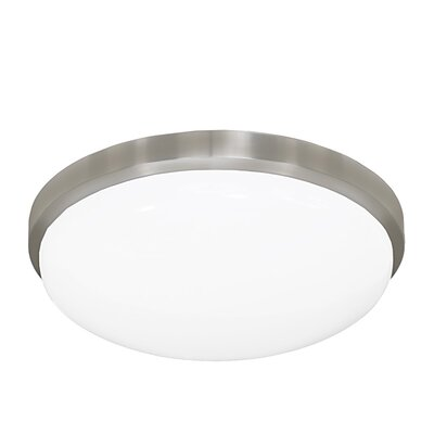 13 Inches Round Driverless AC LED Flush Mount Ceiling Fixture or ADA Sconce with Acrylic Shade 90CRI Brushed Nickel in 4000K