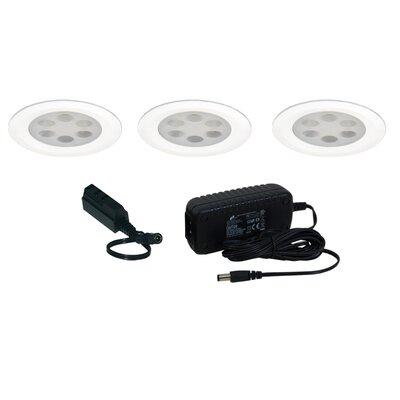 Slim Disk LED Under Cabinet Recessed Light Kit