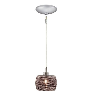 Aidan 1-Light Drum Pendant Finish: Satin Chrome