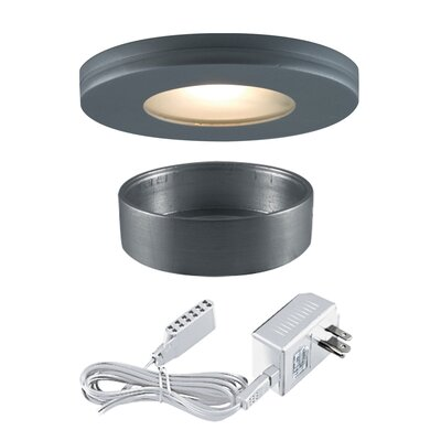 Slim Disk Xenon/Halogen Under Cabinet Recessed Light Kit Finish: Silver Gray