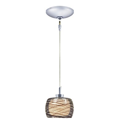 Ally 1-Light Track Pendant Finish: Chrome