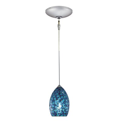 Moz 1-Light Track Pendant Finish: Satin Chrome