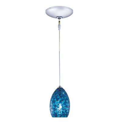 Moz 1-Light Track Pendant Finish: Chrome