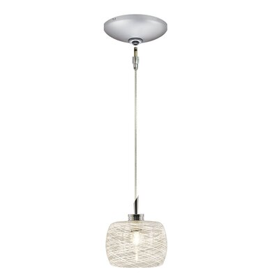 Ally 1-Light Drum Pendant Finish: Satin Chrome