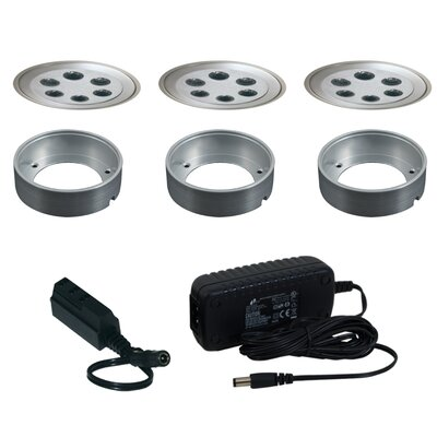 Slim Disk LED Under Cabinet Recessed Light Kit