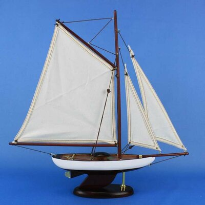 Wood Sloop Model Ship