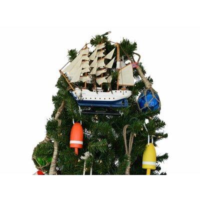 Christian Radich Wooden Model Ship Christmas Tree Topper Decoration
