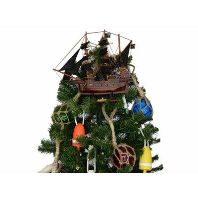John Halsey's Charles Pirate Ship Christmas Tree Topper Decoration