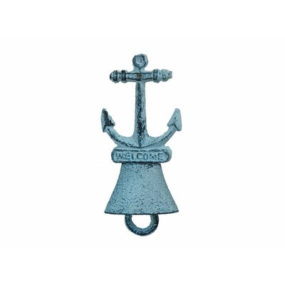 Anchor 5 Rustic Silver Cast Iron Hand Bell