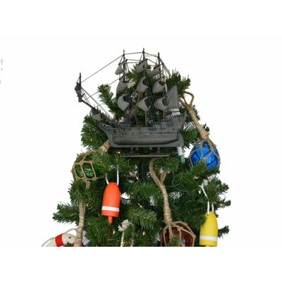 Flying Dutchman Wooden Model Pirate Ship Christmas Tree Topper Decoration