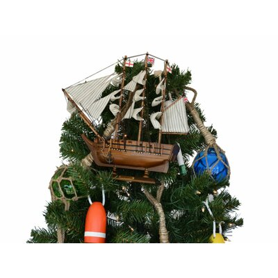 Darwin's HMS Beagle Model Ship Christmas Tree Topper Decoration