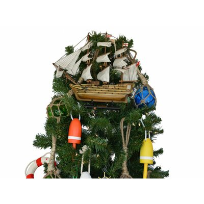 HMS Victory Model Ship Christmas Tree Topper Decoration