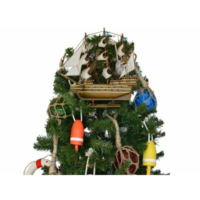Wooden Wasa Model Ship Christmas Tree Topper Decoration