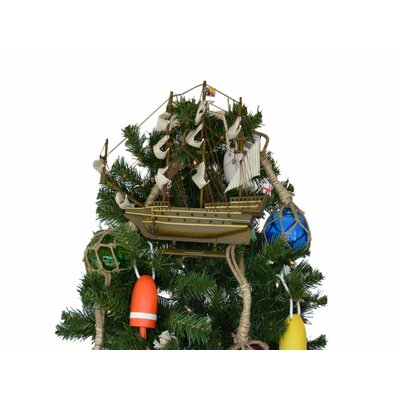 Sovereign of the Seas Wooden Model Ship Christmas Tree Topper Decoration