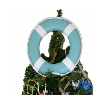 Lifering with White Bands Christmas Tree Topper Decoration Color: Light Blue