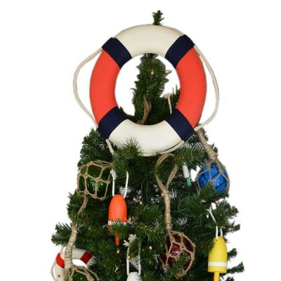 Lifering Christmas Tree Topper Decoration Color: White / Red