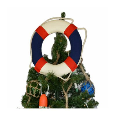 Lifering Christmas Tree Topper Decoration Color: White / Blue