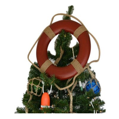 Lifering Christmas Tree Topper Decoration Color: Red