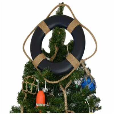 Lifering Christmas Tree Topper Decoration Color: Blue