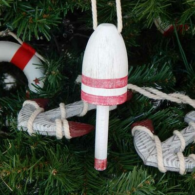 Vintage Decorative Lobster Trap Buoy Christmas Tree Ornament Color: Dark Red
