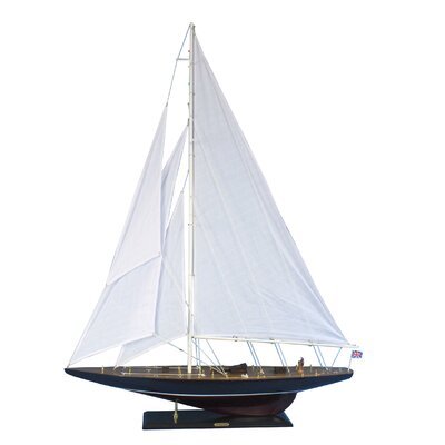 "Endeavour 60"" Large Sailboat Model Wooden Model Boat Nautical Decor Beach Home Accent Model Sailing Boat Historical Sailboat ENDEAVOUR60"