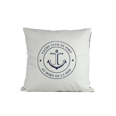 Yacht Club Anchor Decorative Throw Pillow