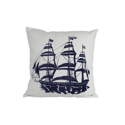 Tall Ship Nautical Throw Pillow