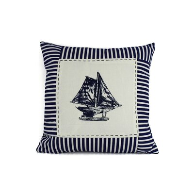 Sloop Nautical Stripes Decorative Throw Pillow