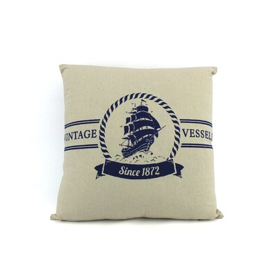 Vintage Vessels 1872 Decorative Nautical Throw Pillow