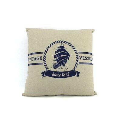 Brookridge Vintage Vessels 1872 Decorative Nautical Throw Pillow