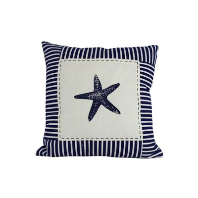Starfish Nautical Stripes Throw Pillow