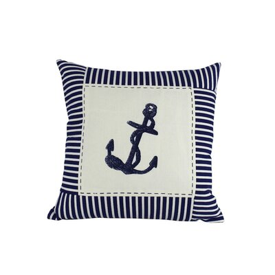 Anchor Nautical Stripes Decorative Throw Pillow