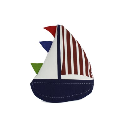 Flag Hoisted Sailboat Nautical Throw Pillow