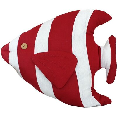 Tropical Fish Pillow Color: Red