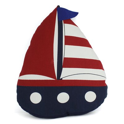 American Sailboat Nautical Decorative Pillow Color: Blue