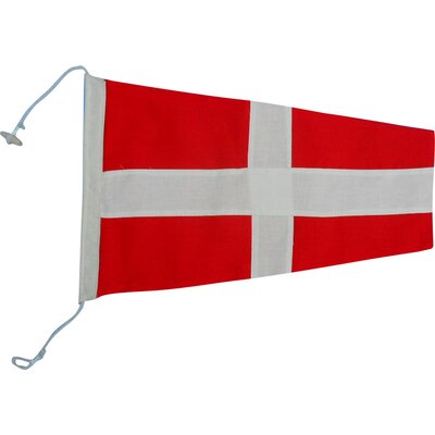 Number 4 Nautical Cloth Signal Flag Wall Décor