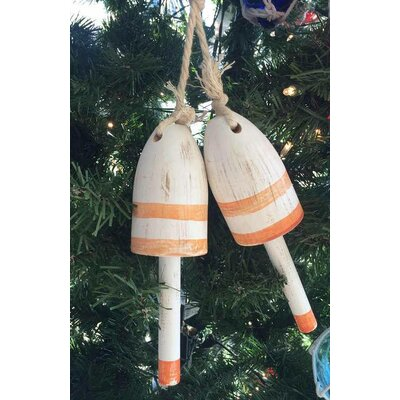 Wooden Decorative Maine Lobster Trap Buoy Christmas Ornament Color: Vintage Orange