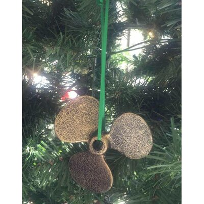 Cast Iron Propeller Christmas Ornament Color: Antique Gold