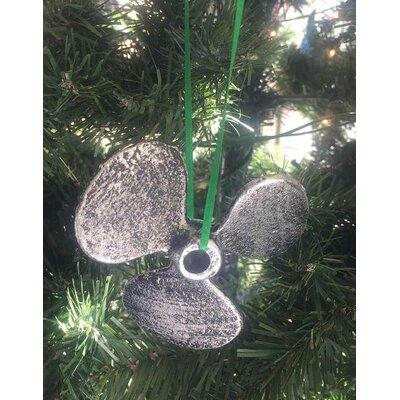 Cast Iron Propeller Christmas Ornament Color: Antique Silver