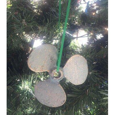 Cast Iron Propeller Christmas Ornament Color: Antique Bronze