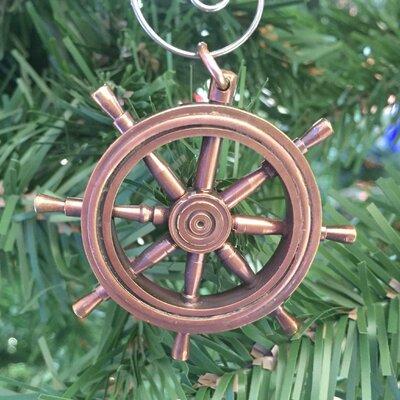 Ship Wheel Christmas Ornament Color: Antique Copper