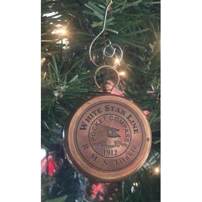 RMS Titanic Star Pocket Compass Christmas Ornament Color: Antique Brass