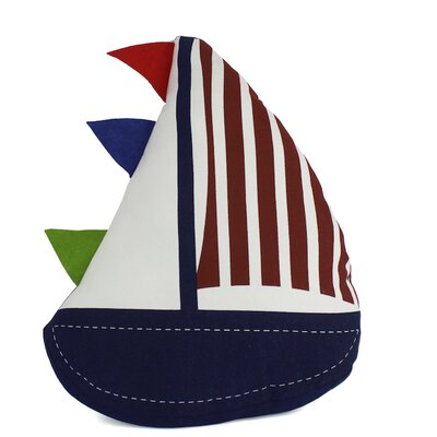 Flag Hoisted Sailboat Nautical Decorative Throw Pillow