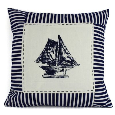 Sloop Nautical Stripes Decorative Throw Pillow