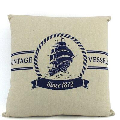 Vintage Vessels 1872 Decorative Nautical Throw Pillow