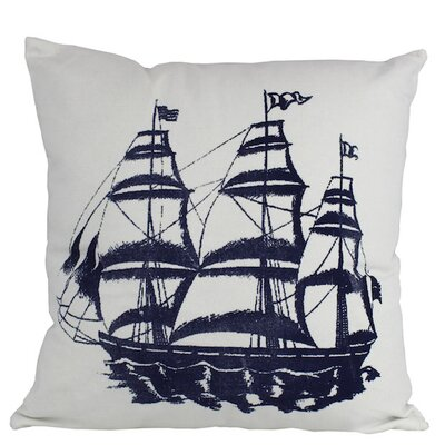 Tall Ship Decorative Nautical Throw Pillow