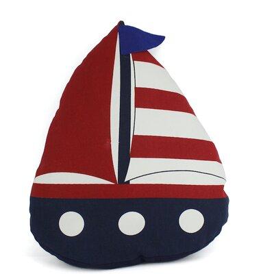 American Sailboat Nautical Decorative Throw Pillow