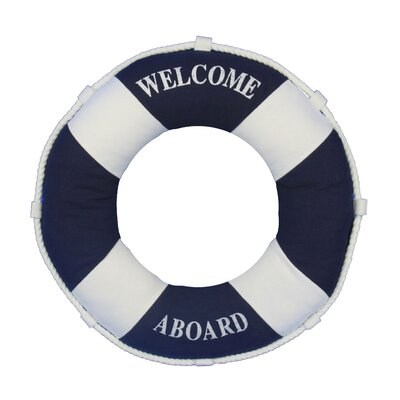 Welcome Aboard Life Ring Pillow